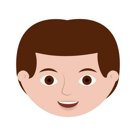 Illustration pour front face redhead male hairstyle vector illustration - image libre de droit