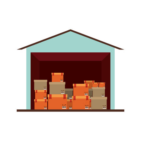storage cellar with multiple package vector illustration