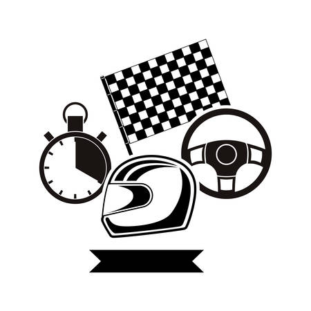 Racing motorsport symbol icon vector illustration graphic