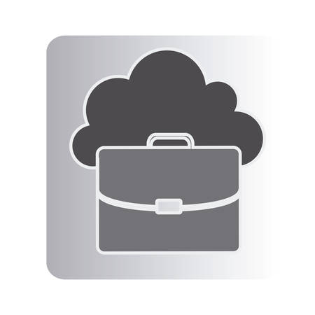 cloud suitcase network icon, vector illustration designのイラスト素材