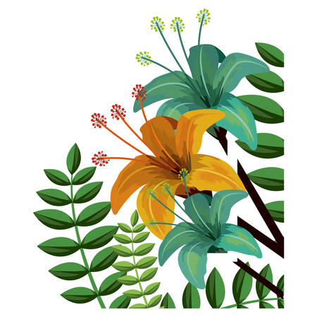 Flowers icon. Decoration garden floral nature plant and spring theme. Isolated design. Vector illustration