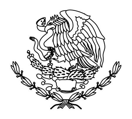 An Emblem Of Mexican Flag Vector Illustration Design