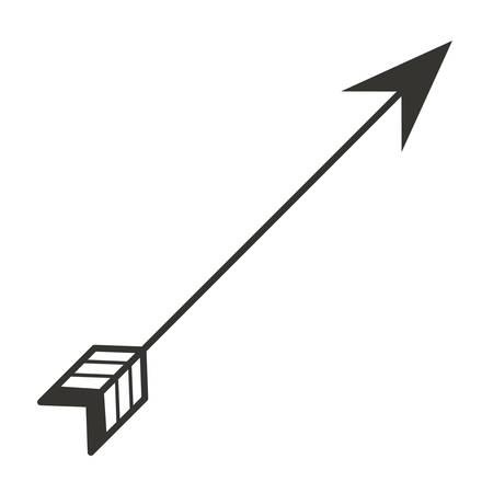 Ilustración de ethnicity arrow isolated icon vector illustration design - Imagen libre de derechos