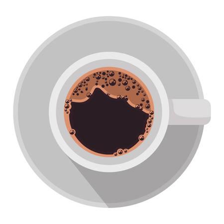 Illustration pour coffee cup air view icon vector illustration design - image libre de droit