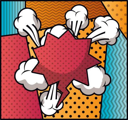 Ilustración de speech bubble and set patterns pop art style vector illustration design - Imagen libre de derechos