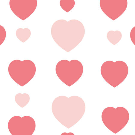 hearts pattern background isolated icon vector illustration desing