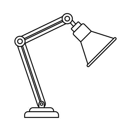 Illustration pour silhouette of office lamp on white background vector illustration design - image libre de droit
