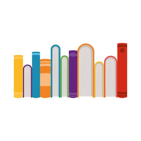 Illustration pour Books design, Education literature read library school university and learning theme Vector illustration - image libre de droit