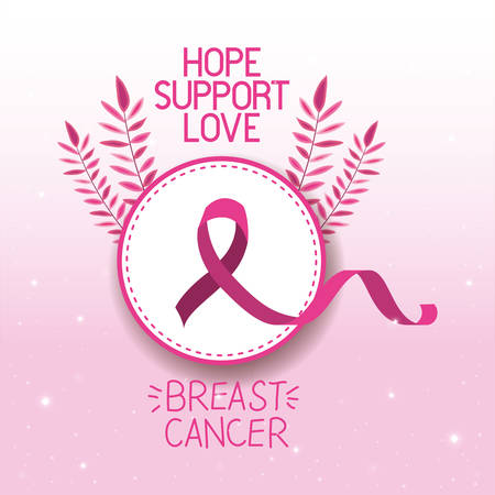 Illustration pour Breast Cancer Awareness ribbon campaign vector illustration design - image libre de droit