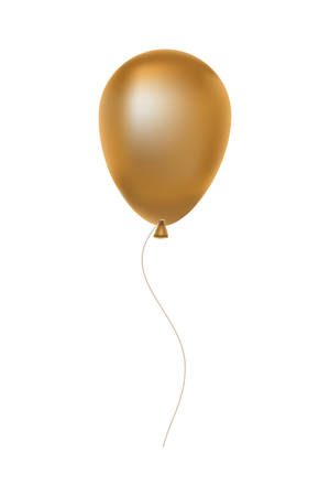 Illustration for golden balloon helium floating decorative icon vector illustration design - Royalty Free Image