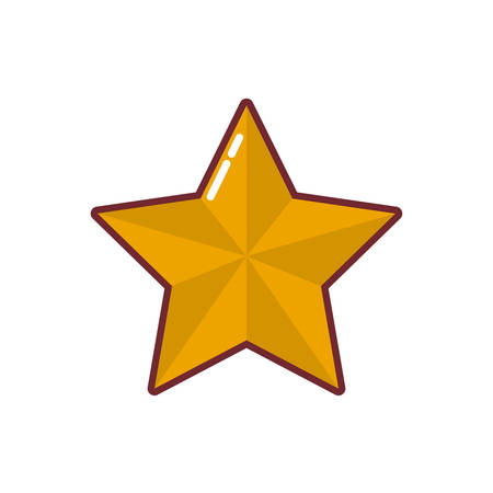 Illustration for Star shape design, Decoration award success style web rating and quality theme Vector illustration - Royalty Free Image