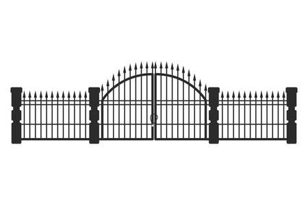 Illustration pour iron railings on white background vector illustration design - image libre de droit