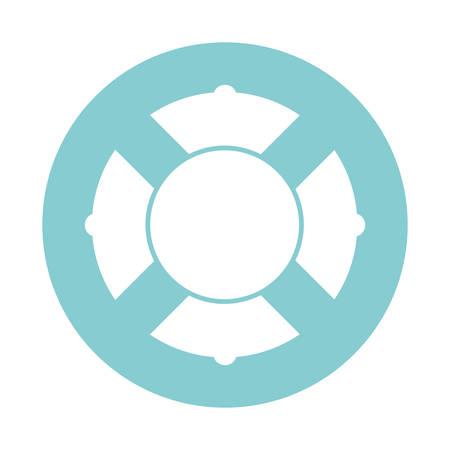 Illustration pour Safe float block style icon design Sea nautical ocean navigation travel underwater water and marine theme Vector illustration - image libre de droit