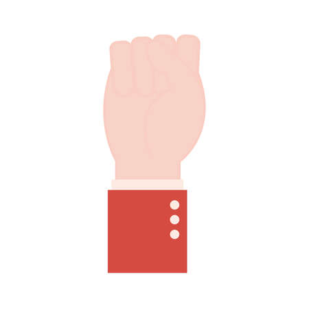Illustration pour s hand sign language flat style icon design of People help finger person learn communication healthcare theme Vector illustration - image libre de droit