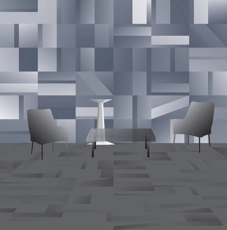 Illustration pour Abstract modern Interior in pastel shades of gray color. Vector illustration - image libre de droit