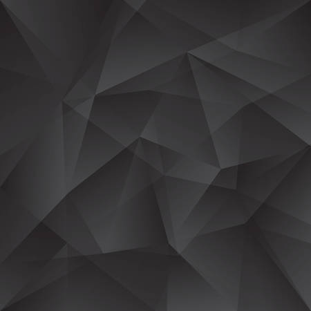 Illustration for Black and dark gray abstract triangles paint background. Modern screen vector design for mobile app - Royalty Free Image
