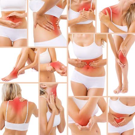 Photo pour Muscle pain in different parts of body - image libre de droit