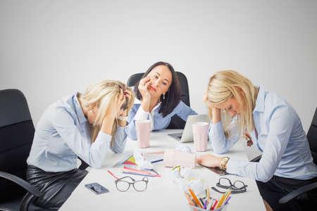 Depressed business women