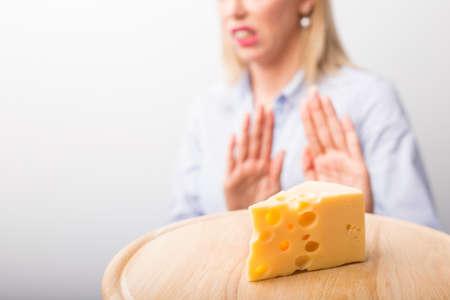 Photo pour Cheese allergies - image libre de droit