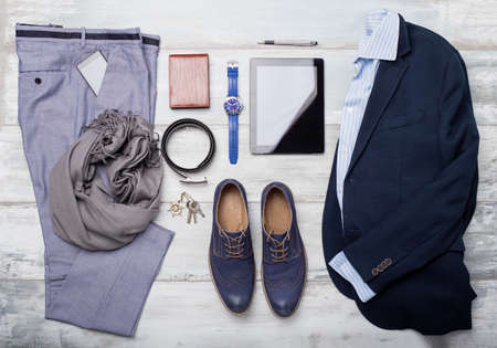 Foto de Set of mans fashion and accessories - Imagen libre de derechos