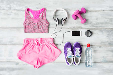 Workout kit on the floor