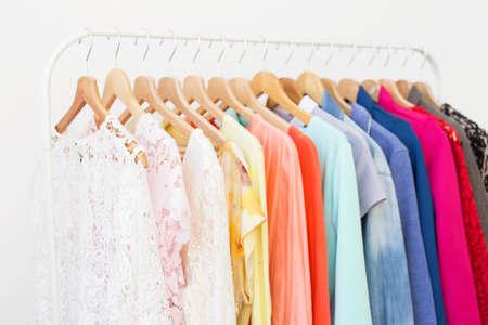 Photo pour Clothes in the closet - image libre de droit