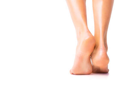 Photo for Woman with bare foot standing - Royalty Free Image
