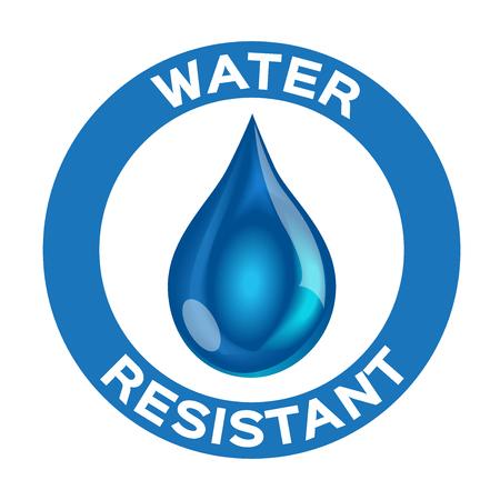 Illustration pour Water resistant logo , icon and vector . blue Water resistant version - image libre de droit