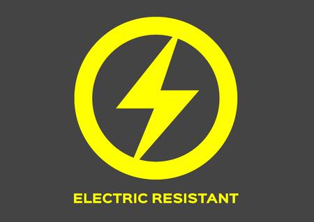 Illustration pour electric resistant icon vector - image libre de droit