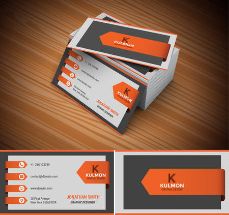Foto de Vector illustration of modern creative business card.  - Imagen libre de derechos