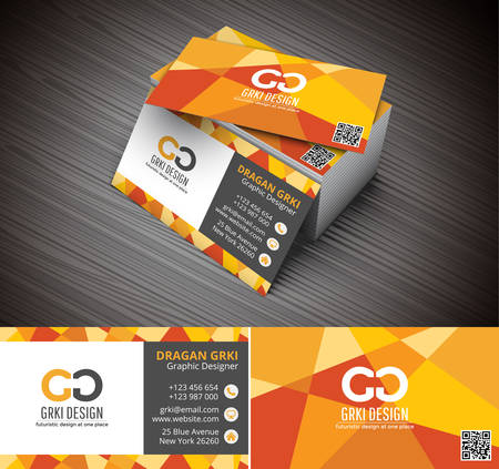 Photo for Vector illustartion of 3D creative business card mockup. - Royalty Free Image