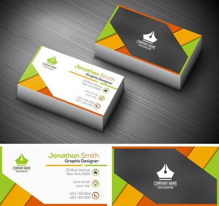Illustration for illustration of creative business card. - Royalty Free Image