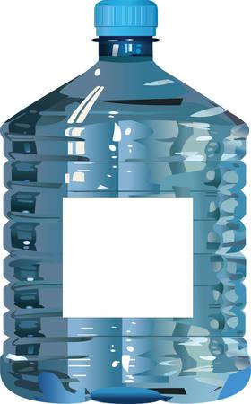 Vector. Big blue plastic bottle of water.