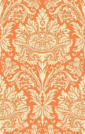 Vector. Seamless damask pattern