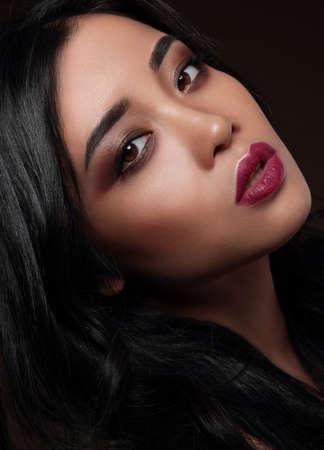Photo pour Beauty portrait of handsome asian model with a professional makeup. - image libre de droit