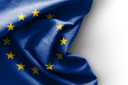 Foto de Flag of Europe on white background - Imagen libre de derechos