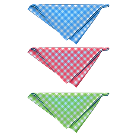 Illustration for Triangular form. Color: red, blue and green. - Royalty Free Image