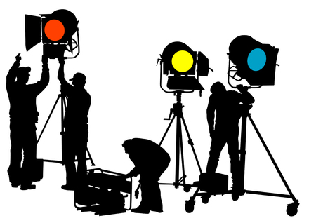 drawing of lighting equipment on stage