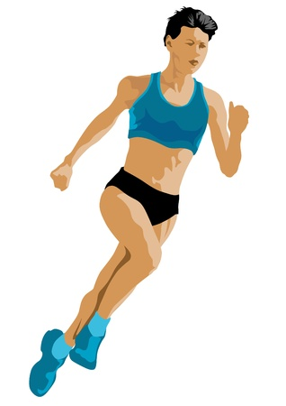 Photo for Vector drawing competition run among women - Royalty Free Image