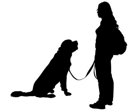 Illustration pour Dogs on a white background - image libre de droit