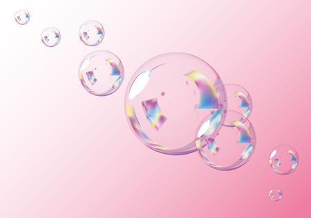 Pink Bubbles Background.  Vector EPS10 Illustration.