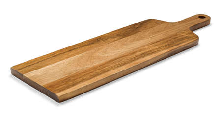 Photo for Cutting board made of natural wood, photo isolated from the background - Royalty Free Image