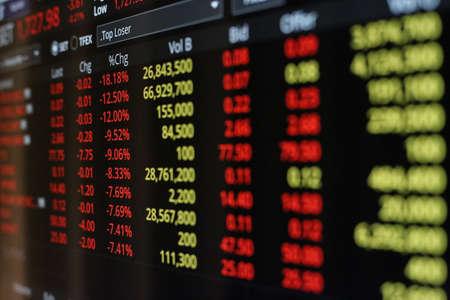 Photo pour Thailand Stock Exchange, Streaming Trade Screen. - image libre de droit