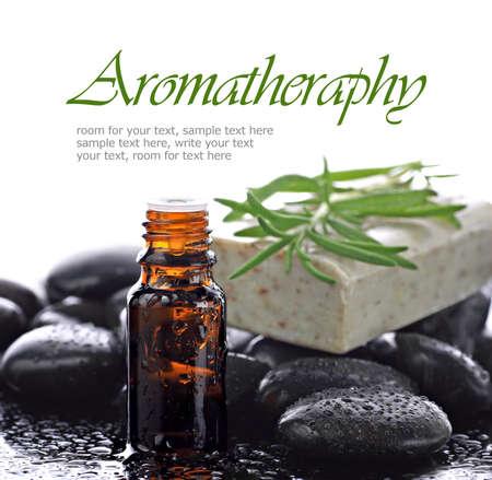 Aromatherapy, natural essential oil border