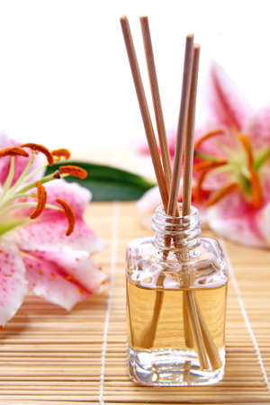 Fragrance sticks or Scent diffuser with lily flowers