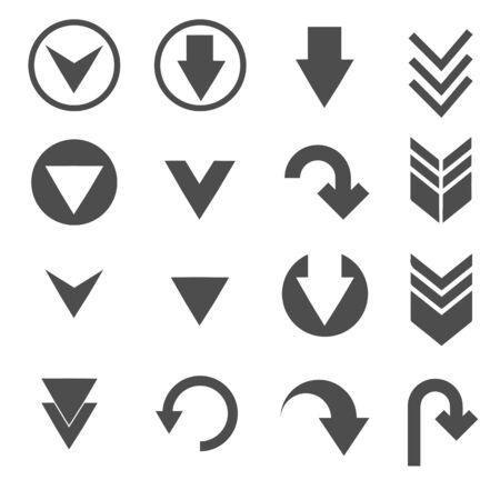 Illustration pour down arrow sign icons set - image libre de droit