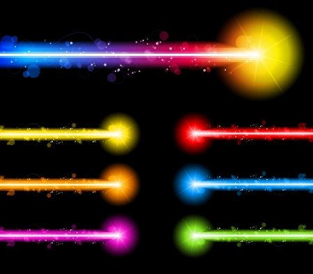 Vector - Laser Neon Colorful Lights