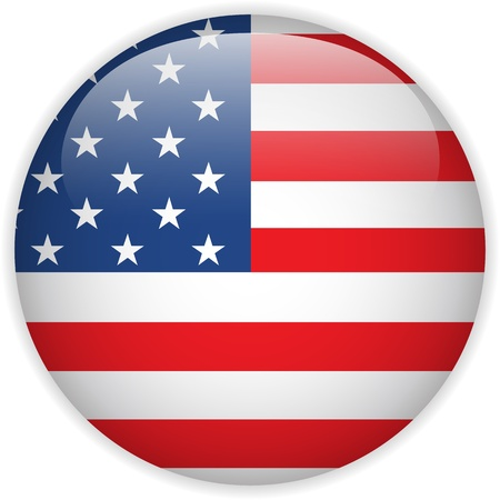 Vector - United States Flag Glossy Button