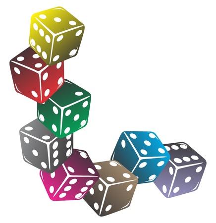 colorful dice
