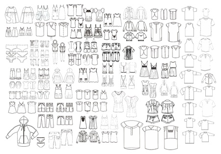 Illustration for apparel art template all - Royalty Free Image